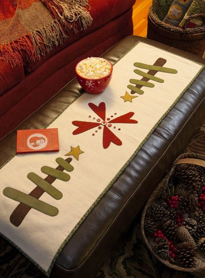 """""""Winter Whimsy Wool Runner"""" from the book 'Tis the Season."""