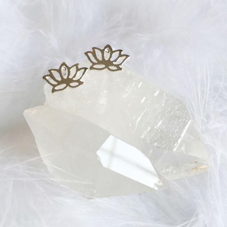Little Lotus - Stud Earrings – Druzy Dreams