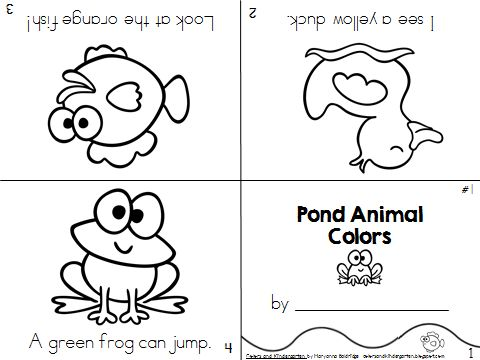 My Science Journal: Pond Animals Your preschool, Transitional Kindergarten, or Kindergarten students will be learning about frogs, ducks, fish and all of the animals at the pond. Get your kids writing, reading and learning about pond animals.