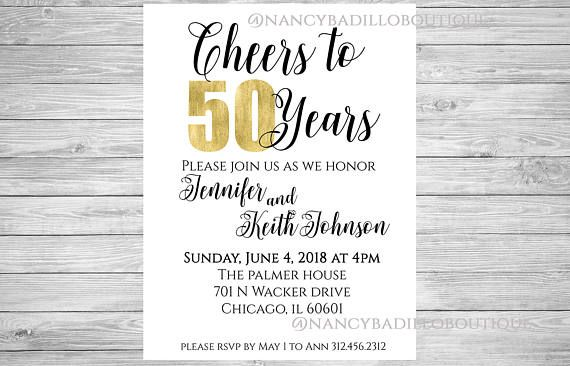 50th Celebration, cheers to 20 years, 30 year anniversary, cheers to 50 years, 50th wedding invite, anniversary invite, 40th anniversary, 50th wedding, golden years, 40th wedding, 60th anniversary, 40th anniversary, 30th anniversary, 25th anniversary, 25 years, 50th golden. ★ Description ★ Cheers to 50 years Invite. (Customize for any number to celebrate) This beautiful wedding invite will be a great addition to your special day. It can also be used for any formal events such as dinner…