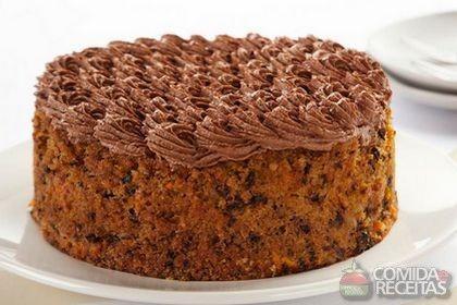 Receita de Bolo de cenoura, nozes e chocolate em receitas de bolos, veja essa e…