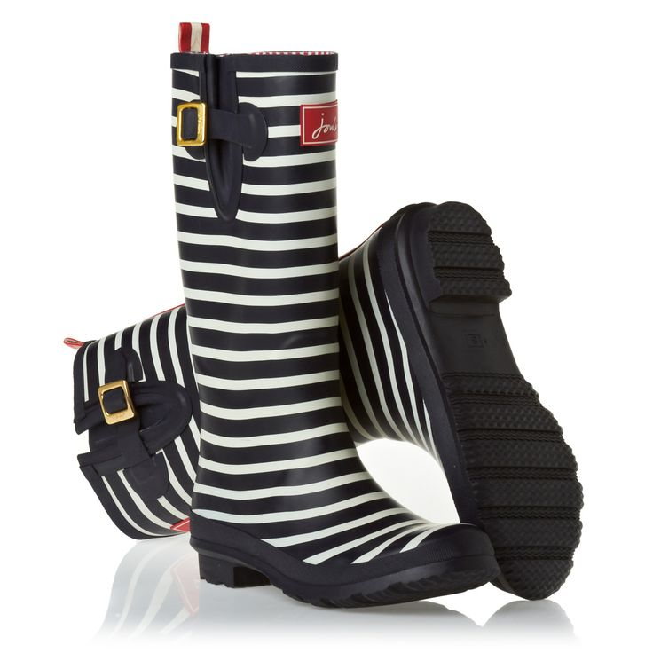 Joules Wellington Boots - Joules O_Wellyprint Wellington Boots - Navstrp