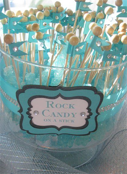 Rock+candy+themed+wedding | Tiffany Themed Wedding - Candy and Dessert Buffet