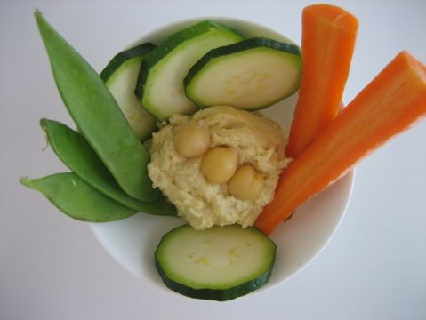 Low Fat Vegan Hummus  Not darling over dairy? Want to go low fat? Then try this humble hummus recipe. Ingredients: 1 can (19 oz) chickpeas, drained and rinsed. (OR soak and cook 6 oz of dried chickpeas), 2 tbsp lemon juice, 2 cloves garlic, chopped, 1/2 tsp ground cumin, 1/4 tsp each salt and pepper, 1 tbsp olive oil (optional),  •3 tbsp water (if desired)