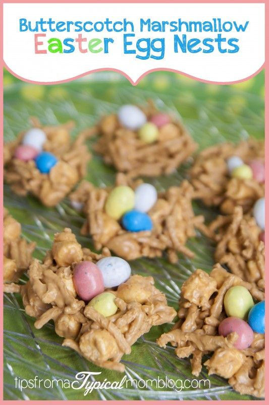 Microwave Butterscotch Marshmallow Easter Egg Nests - Tips from a Typical Mom