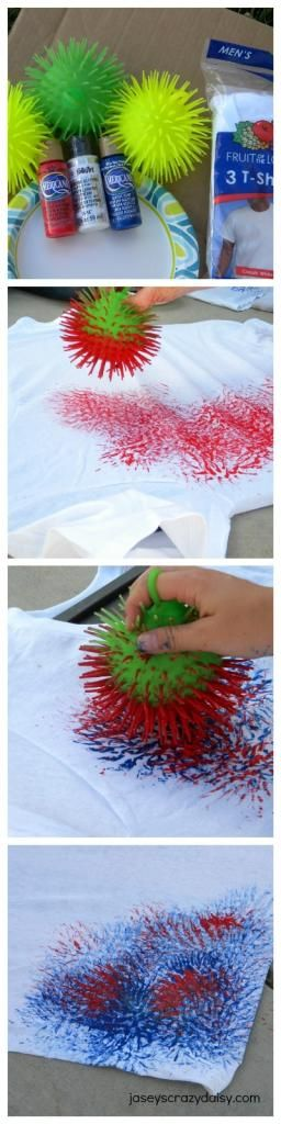 4th of July Shirts {How to make FIRECRACKER T-Shirts} | Jasey's Crazy Daisy #4thofjuly #fireworks #craft