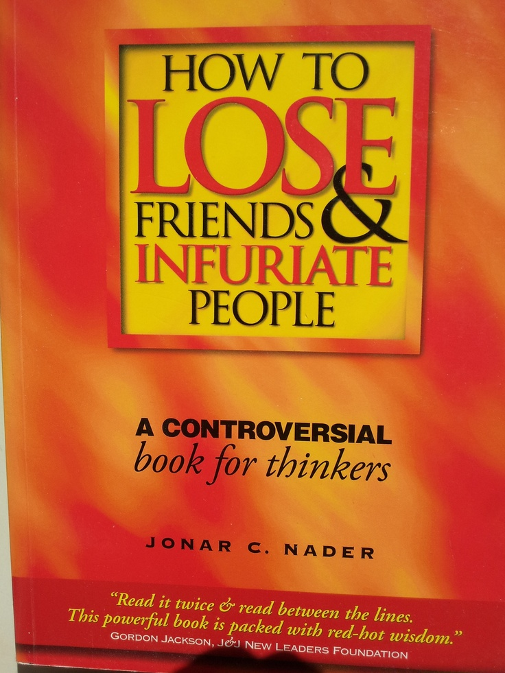 Some people I know, do not need this book! However, it is an excellent thought provoking read!