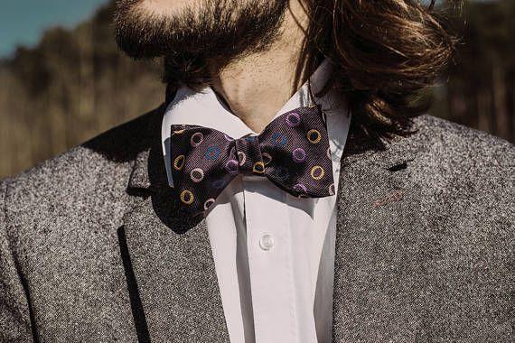 Violet Bow Tie Purple Bow Tie Silk Bow Ties Mens Gift