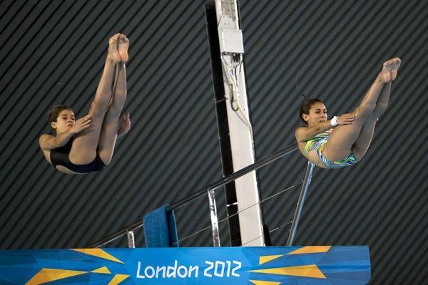 Paola Espinosa se convirtió en la primera mexicana en obtener dos medallas olímpicas en distintas sedes y junto con Alejandra Orozco obtiene la Plata en Londres 2012. (Foto: Getty)