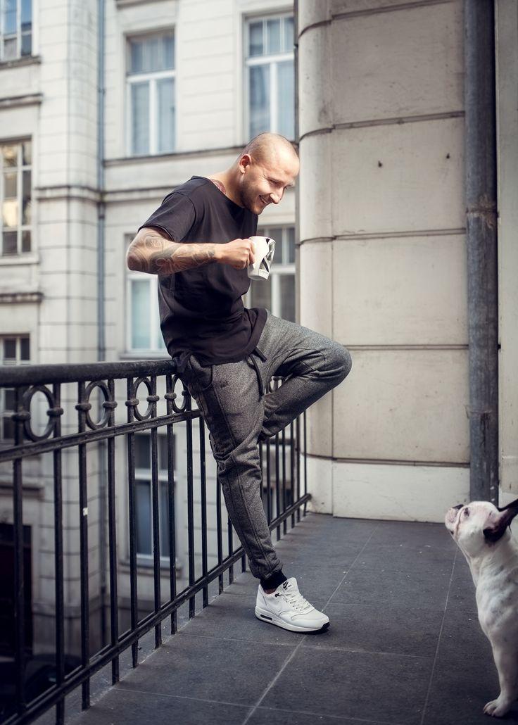 Black Pepper Sweatpants Black soft Tshirt & Zuzia The Dog ;)