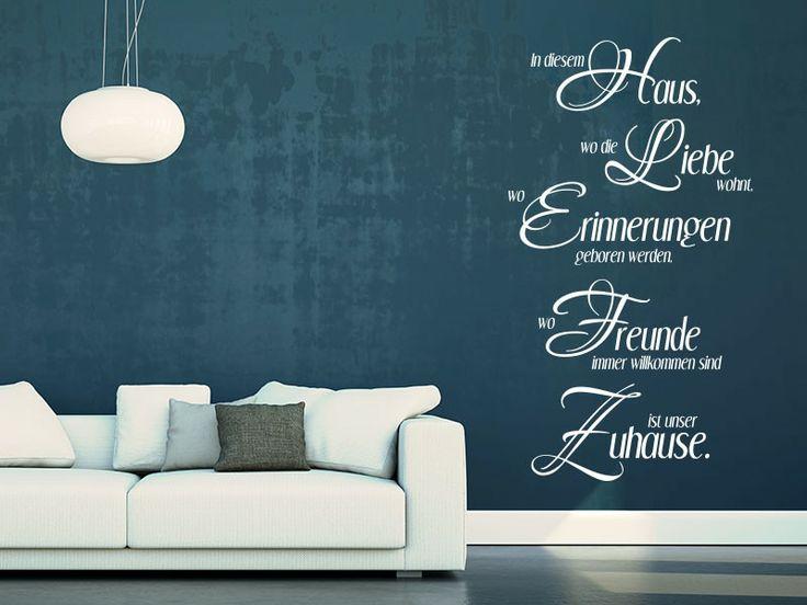 Mit dem Wandtattoo In diesem Haus ist unser Zuhause dekorieren Sie vollkommen liebevoll.