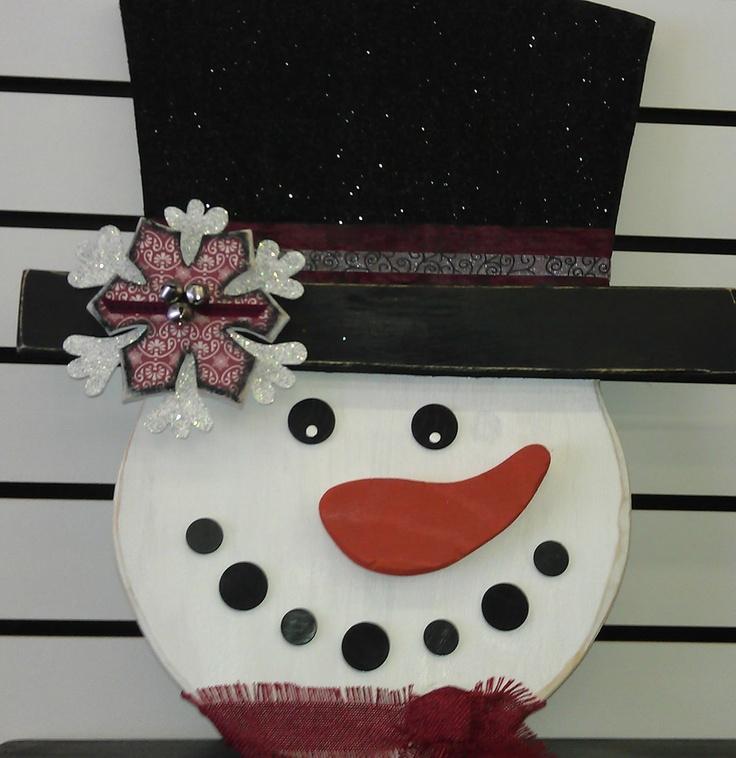 Cute Snowman Door Hanger!