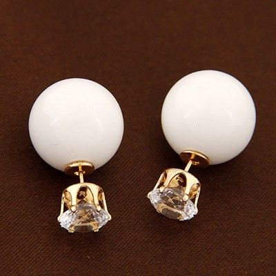 Celebrity White Diamond Stud Earrings