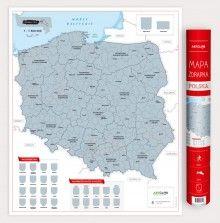 Polska - mapa zdrapka, 1:1 500 000,  ArtGlob