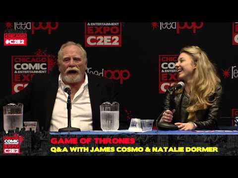 Game of Thrones Q with James Cosmo & Natalie Dormer - C2E2 2013 - Jeor Mormont and Margaery Tyrell from the Seven Kingdoms of Westeros is at C2E2! Join Actor James Cosmo and actress Natalie Dormer as they talk about their experience playing Jeor and Margaery in HBO's award winning series Game of Thrones.