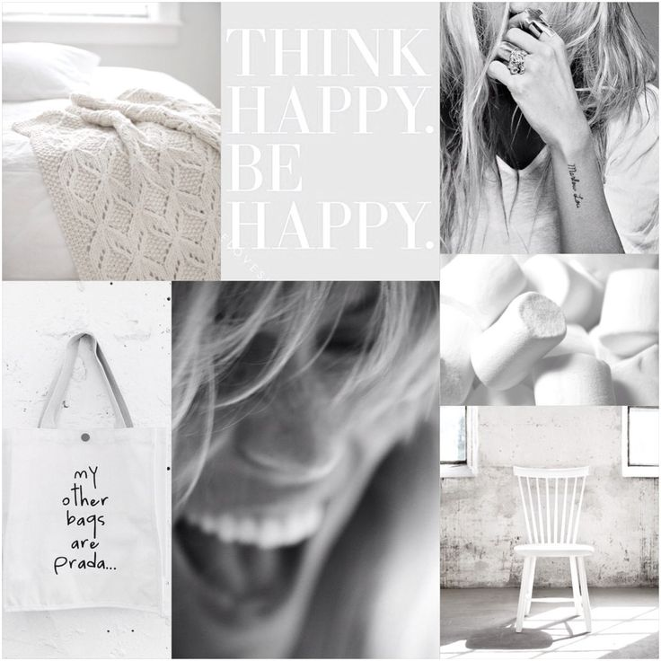 Moodboard l Think happy, Be happy l White by Pure Style interieur l styling