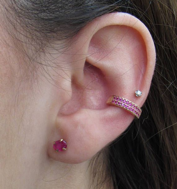 1.00 Carat Ruby Earrings  Natural Ruby Earrings  Oval Cut