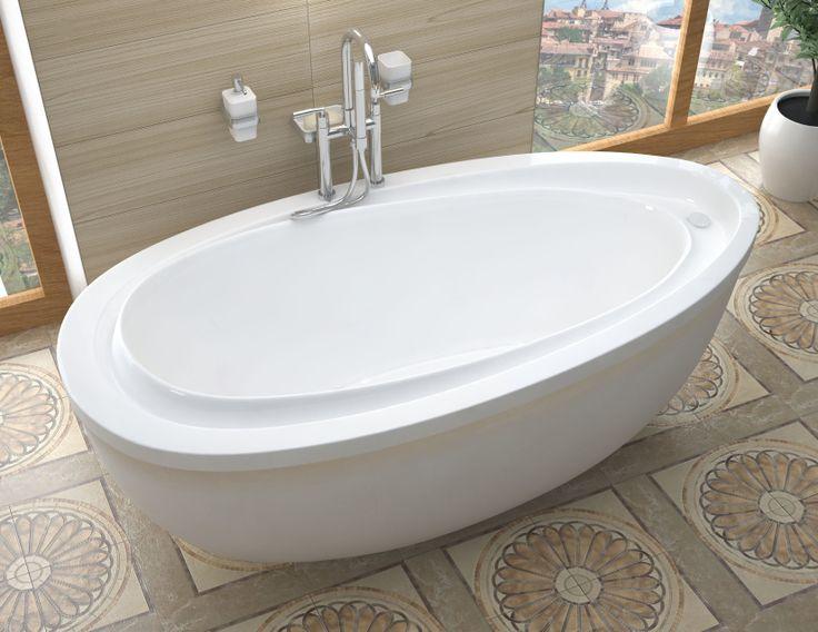 soaker bathtub white - Stand Alone Tub