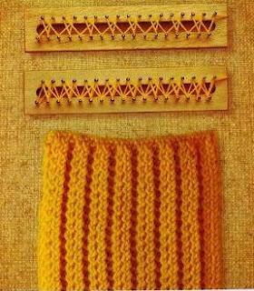 Stitches on an Aztec or Mayan loom. (puntos en telar azteca o maya)