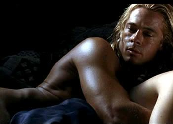 Brad pitt sex scene from the movie troy, over brunette hairy pussy picture