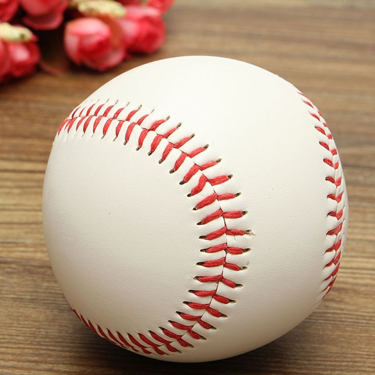 9 Inch Base Ball Practice Training Softball Hand Sewing Sport Team Game Red & White  #sports #fitness