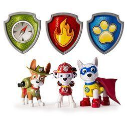 Paw Patrol Action Pack Pups Figure Set, Tracker, Apollo, Everest  -3pk