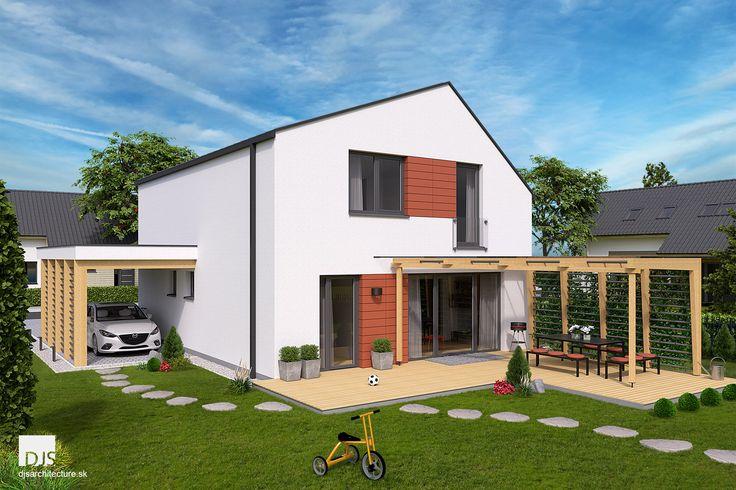 Projekt domu - i2-140 - Pohľad zo záhrady