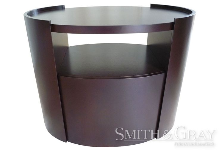 Oval curved bedside table by Smith and Gray Furniture Makers. Custom Made Australian Furniture. www.smithandgray.com.au