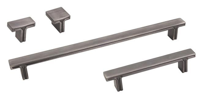 The Brushed Pewter Finish Anwick Series Decorative Cabinet Hardware  Collection From Jeffrey Alexander Includes Standard U0026 Oversized Pulls And  Matchu2026