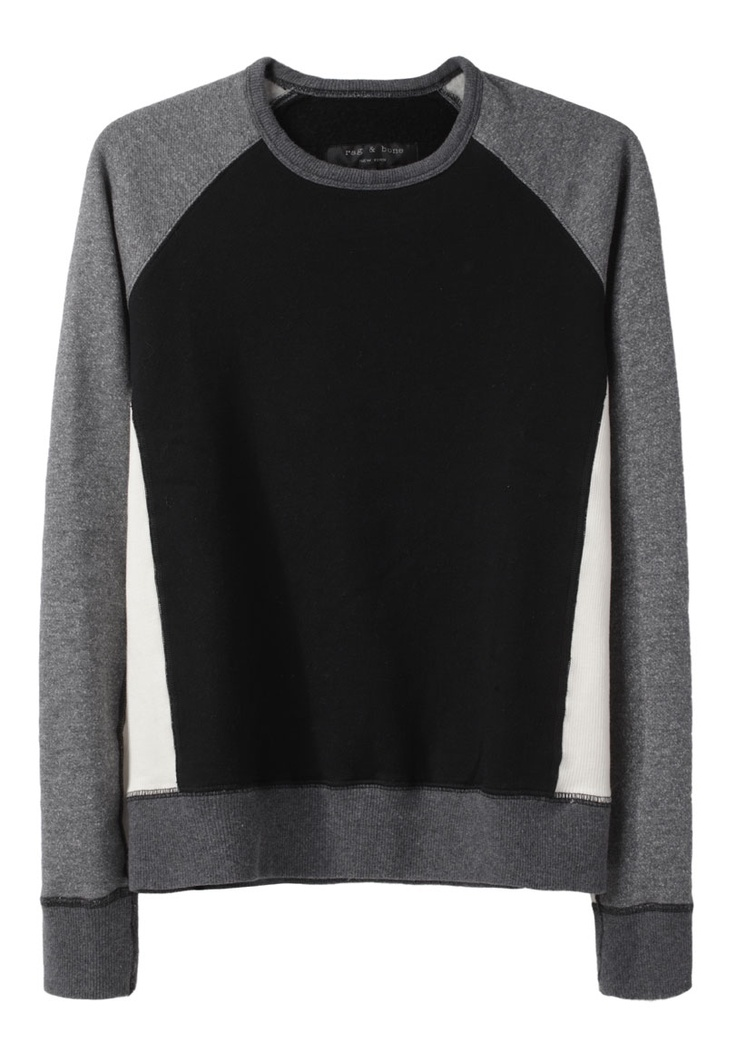 $290  (Rag & Bone / Color Block Dakota Sweatshirt)