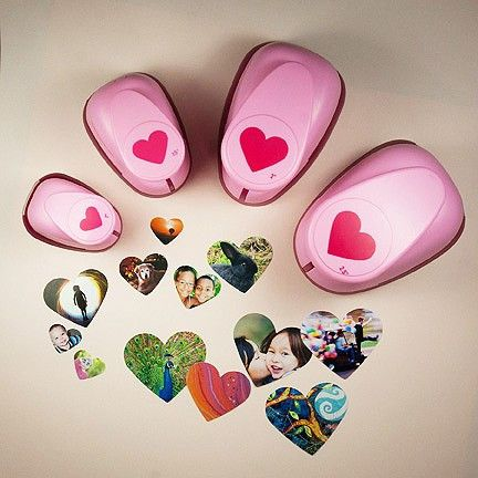 "Perfect punch set includes 1"", 1-1/2"", 2"" and 2-1/2"" Heart Punches!"