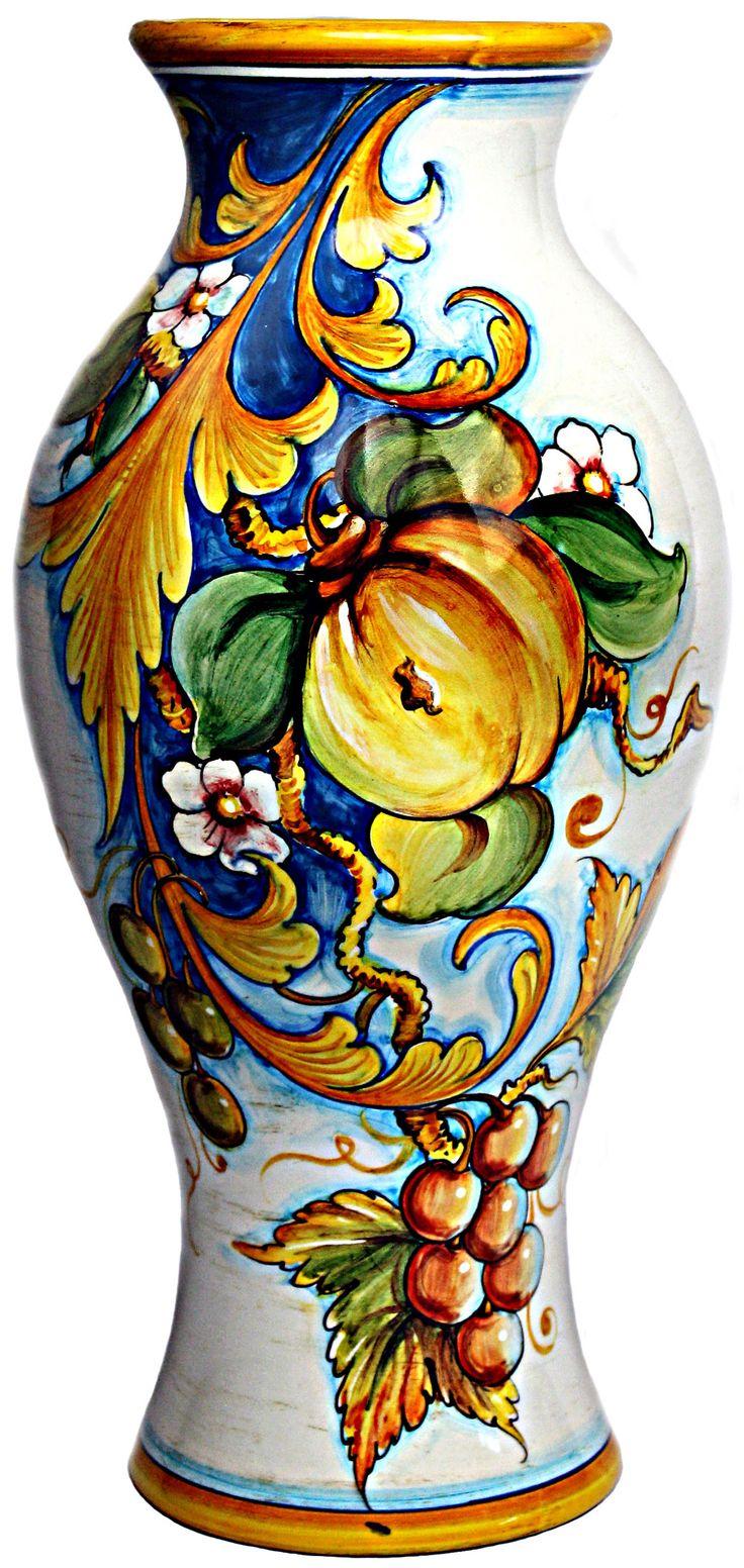 Talavera ceramic birdbaths eclectic bird baths phoenix by - Ceramic Vase With Central Cavity Frutta Festone And Classico Style 14 Inches X 7 Inch Diameter High X Diameter