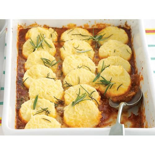 Baked romana gnocchi recipe - By recipes+, A rich tomato sauce is topped with golden semolina gnocchi in this popular Italian dish.