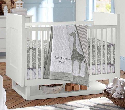 Tobin Nursery Bedding Set Pottery Barn Kids Giraffe Print Sage Green Gray Pinterest Sets And Crib