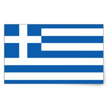 Greek flag stickers - customize create your own #personalize diy & cyo