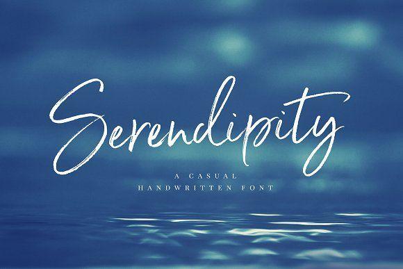 Serendipity Handwritten script Font by Nicky Laatz on @creativemarket