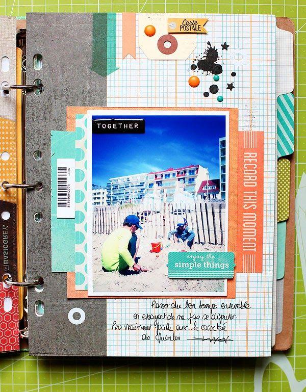 #papercraft #scrapbook #layout Inspiration: ★Scraptherapie★: Summer Memories BasicGrey Capture Album