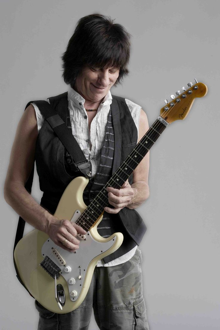 Jeff Beck with a Stratocaster