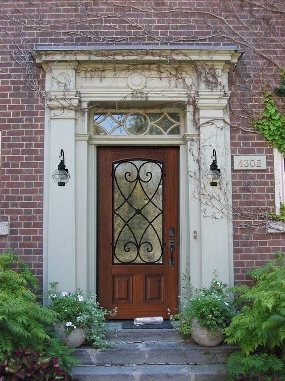 14 best images about front door on pinterest iron doors for Black entry door with glass