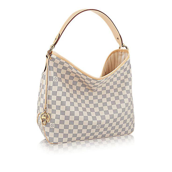 Delightful MM Damier Azur Canvas Handbag   LOUIS VUITTON
