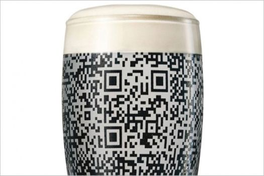 Guinness QR Code pint glass can only be scanned when full