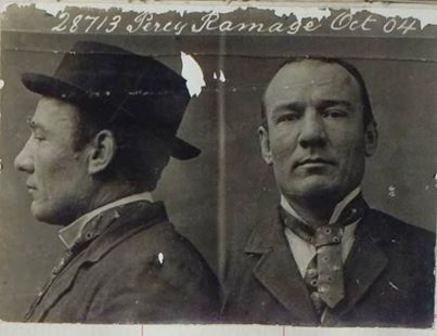 Percy Ramage was described as a powerful young man, who was convicted of assaulting Constable Luke and causing grevious bodily harm in Little Lonsdale Street on the 6th of March 1899. #‎geelonggaolghosttours