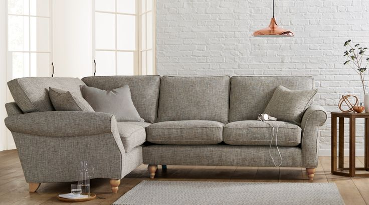 Boasting aa modern style with traditional shape, this season we're loving this gorgeous Ashford corner sofa, complete with stylish copper accessories!