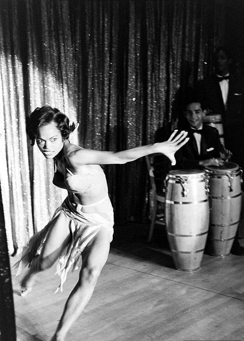 American singer, actor, and cabaret star Eartha Kitt, United States, 1955, photograph by George Silk.