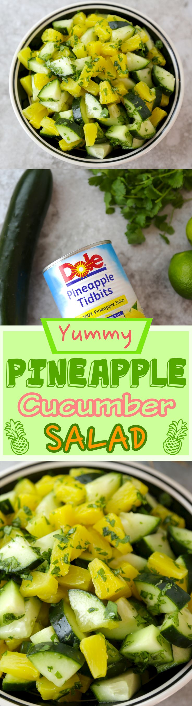 If you've been looking for a new and exciting salad this spring, you have scrolled to the right place. Our DOLE® Pineapple and Cucumber Salad is everything you want.