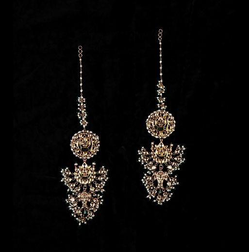 A Pair Of Double Sided Drop Earrings, North India, 19th Century. Length: 13 cm. © Susan Ollemans.