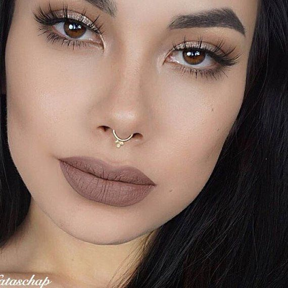 Solid Gold Septum Jewelry Gold Septum Ring Gold Septum Ring 16g