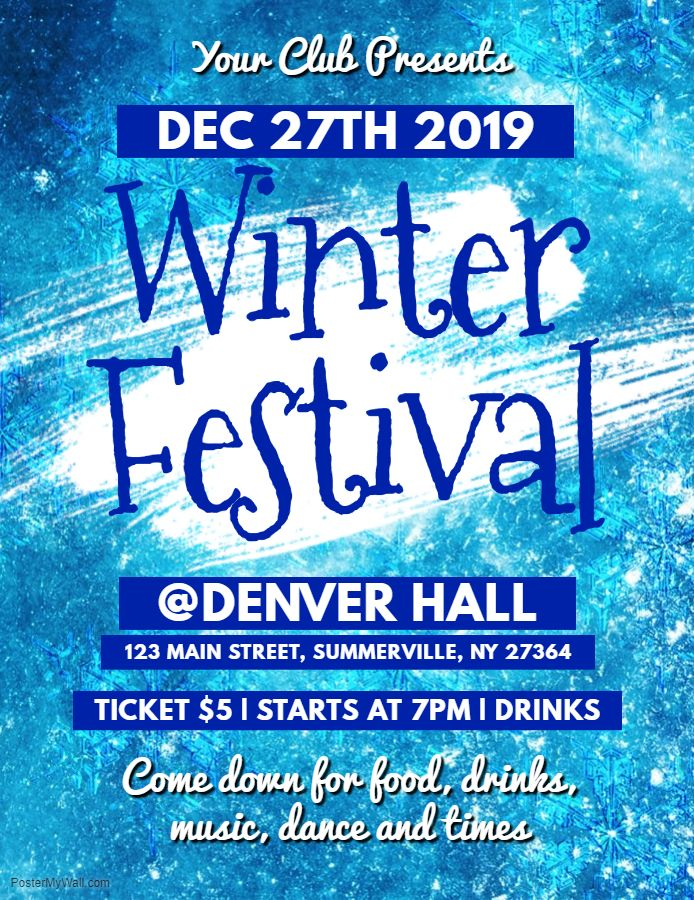 printable winter event flyer template winter poster and