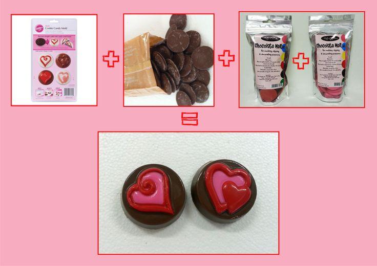 DIY your own Valentine's Day chocolates Valentine's Day 2014 @ the Chocolate Den