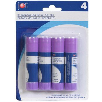 Jot Disappearing Glue Sticks, 4-ct. Pack